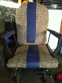 black and brown leopard print rolling armchair Jeffersontown, 40299
