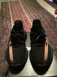 pair of black Adidas Yeezy boost 350 v2 Clear Brook, 22624