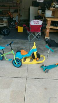 toddler's blue and green trike Norman
