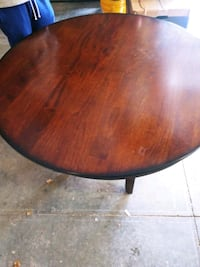 Polished wood finish table with 3 chairs. Omaha