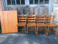 brown wooden table with chairs Dudley, 01571