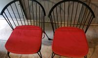 Black metal chairs with red cushions Rockville, 20853