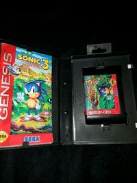 Sonic 3 for sega genesis Kitchener, N2P 1R7