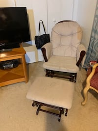 Glider Rocking Chair and Foot Rest
