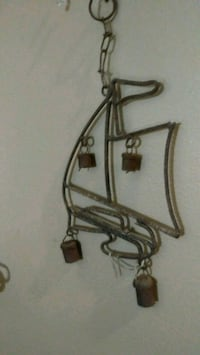 Rustic sailboat windchime