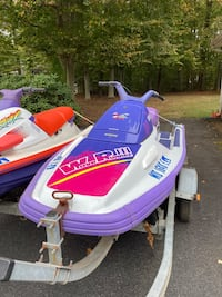 2. 2003 Yamaha jet skis with dual trailer. Original owner