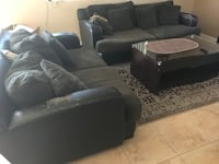 black and gray suede sofa set Tucson, 85748