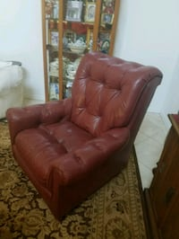 120 OB red wine chair beautiful condition all leat Bradenton, 34202