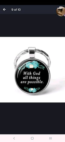 Bible verse Keychain Christian Gift
