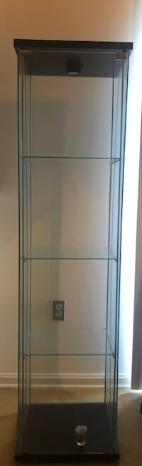 IKEA storage/display cabinet, wood & glass Adelphi, 20783
