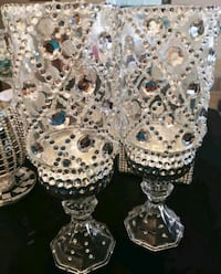 Glamorous Diamond Style Candle Holders Set Aurora, L4G 7N8