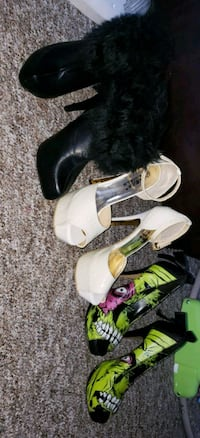 3 great condition high heels