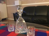 Edinburgh Crystal whisky decanter and glasses North Vancouver, V7N