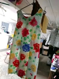 white, green, and red floral sleeveless dress Chicago, 60641