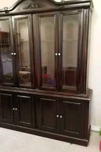 brown wooden framed glass display cabinet Talbotville, N0L 2K0