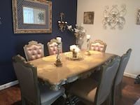 Dining table w/chairs and mirror Magnolia, 77354