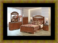 11pc Ashley cherry bedroom set with mattress UNIVERSITY PA, 20782