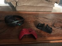 Xbox one controller, charger,and a10 headset with controller adapter  Ogden, 84401