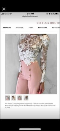City Luxe boutique lace top