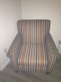 Vintage striped accent chair .