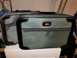 2 suitcases luggage