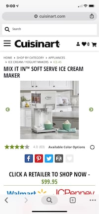 Cuisinart Mix it In Ice Cream Maker Garden City