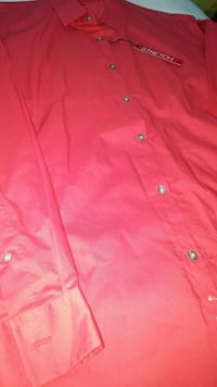 XL Red button up shirt