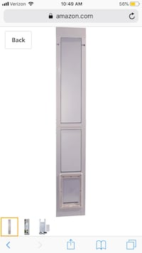 Pet door for sliding door
