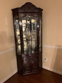 brown wooden framed glass display cabinet Stafford, 22556