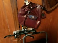 red leather backpack Gastonia, 28054