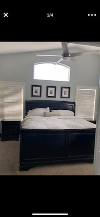 Cal King Sleigh Bedroom set with matching nightstands and dressers(RC WILLEY) Henderson, 89012