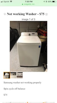 Not working properly top loader Samsung Washer Mesquite, 75150