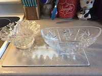 Crystal glass bowl dishes Lubbock, 79401