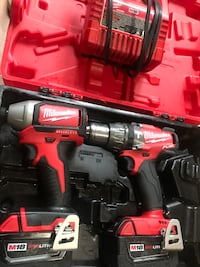 red and black Milwaukee cordless power drill with case Cicero, 60804