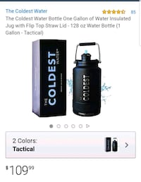 Coldest water bottle.