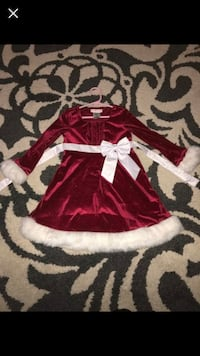 Red and white santa claus dress