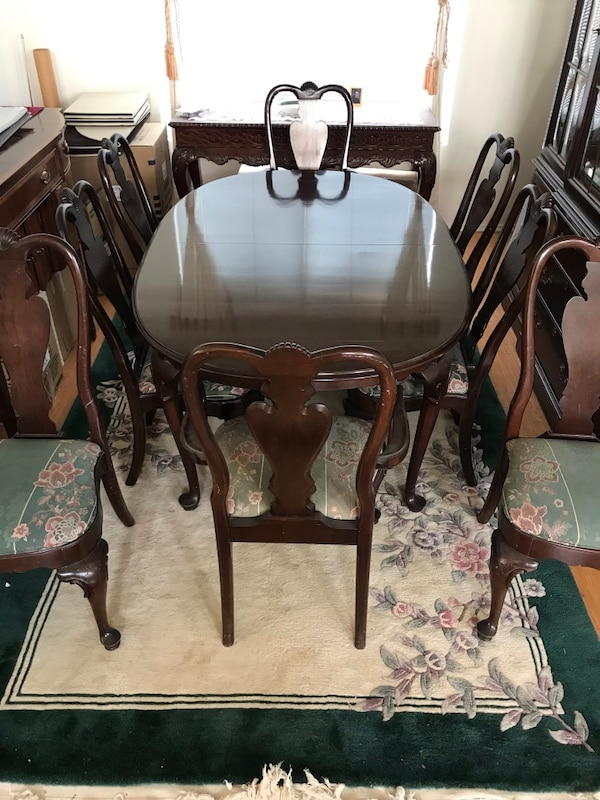 Stupendous Ethan Allen Dining Table And Chairs Queen Anne Style Download Free Architecture Designs Scobabritishbridgeorg
