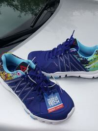 pair of purple-and-multicolored Reebok mesh running shoes Cypress, 77429