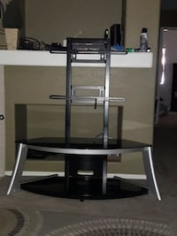 "Black Metal TV stand with mount 55"" Inches San Jacinto, 92583"