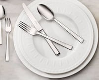 """Villeroy & Boch Cellini (4-Place Settings), Includes Four 10-1/2"""" Dinner Plates, Four 8-1/2"""" Salad Plates. Cream-colored Fine Bone China, New/In Box Washington, 20001"""