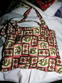 red, white, and green floral handbag Pensacola, 32526