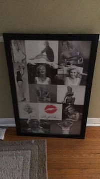 black wooden framed photo of Marilyn Monroe Toronto, M6G 3V2