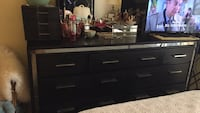 black wooden dresser with mirror 854 mi