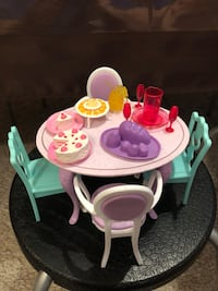 Barbie Doll house Dining set with China cabinet Edmonton, T5Y 2S5