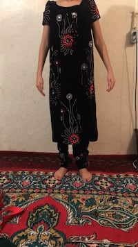 women's black and red floral long sleeve dress Edmonton, T5A 2S8