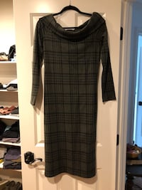 black and gray plaid long-sleeved dress Sterling, 20165
