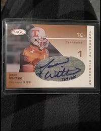 Jason witten signed Tennessee card