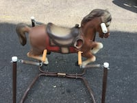 Brown ride on horse toy