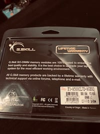 G.skill so-dimm laptop rams 4gbx2 Rockville, 20852