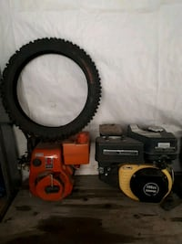 2 motors and brand new dirt bike tire Halton Hills, L7G 2M1